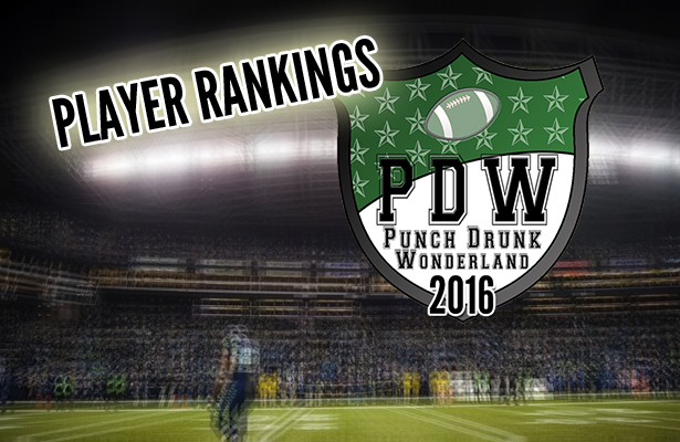 2016 Player Rankings