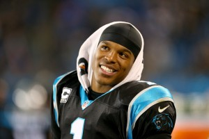 CHARLOTTE, NC - DECEMBER 15:  Cam Newton #1 of the Carolina Panthers during their game at Bank of America Stadium on December 15, 2013 in Charlotte, North Carolina.  (Photo by Streeter Lecka/Getty Images)