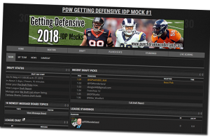 PDW 2018 Getting Defensive IDP Mock Drafts